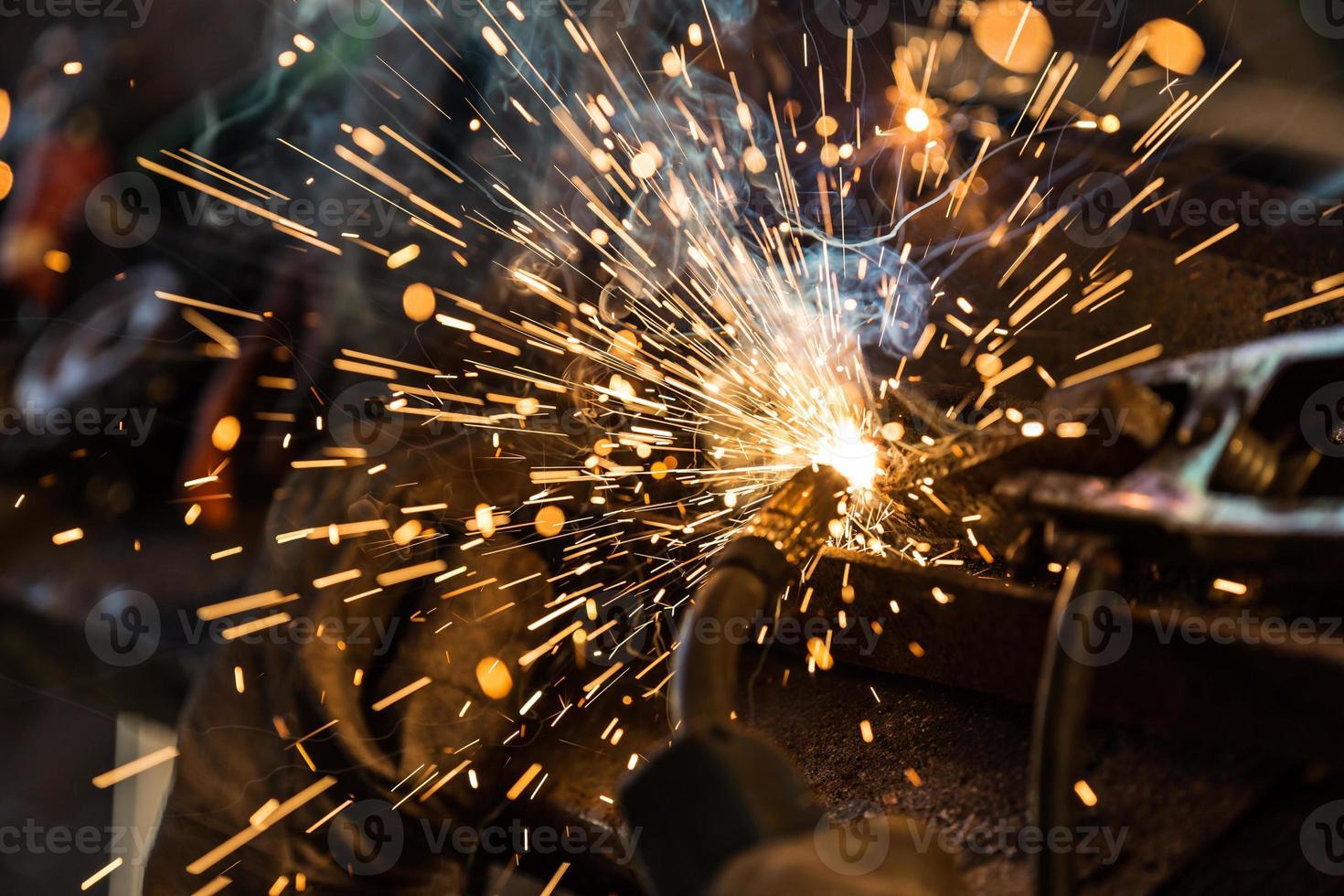 Welders in action photo