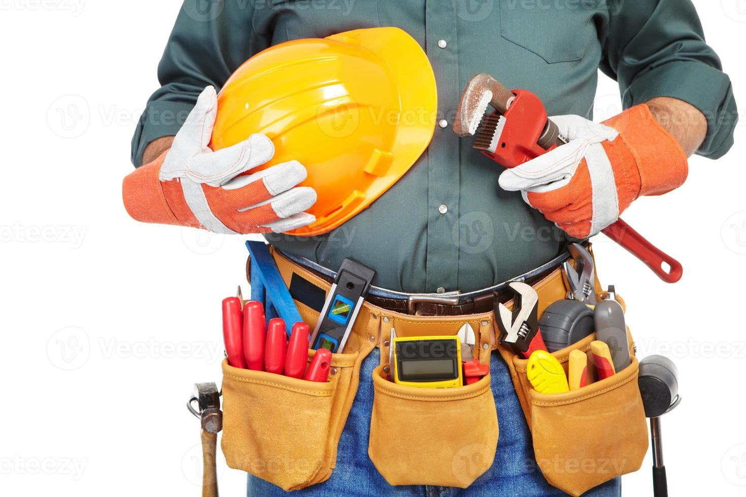 Mature contractor and instruments photo