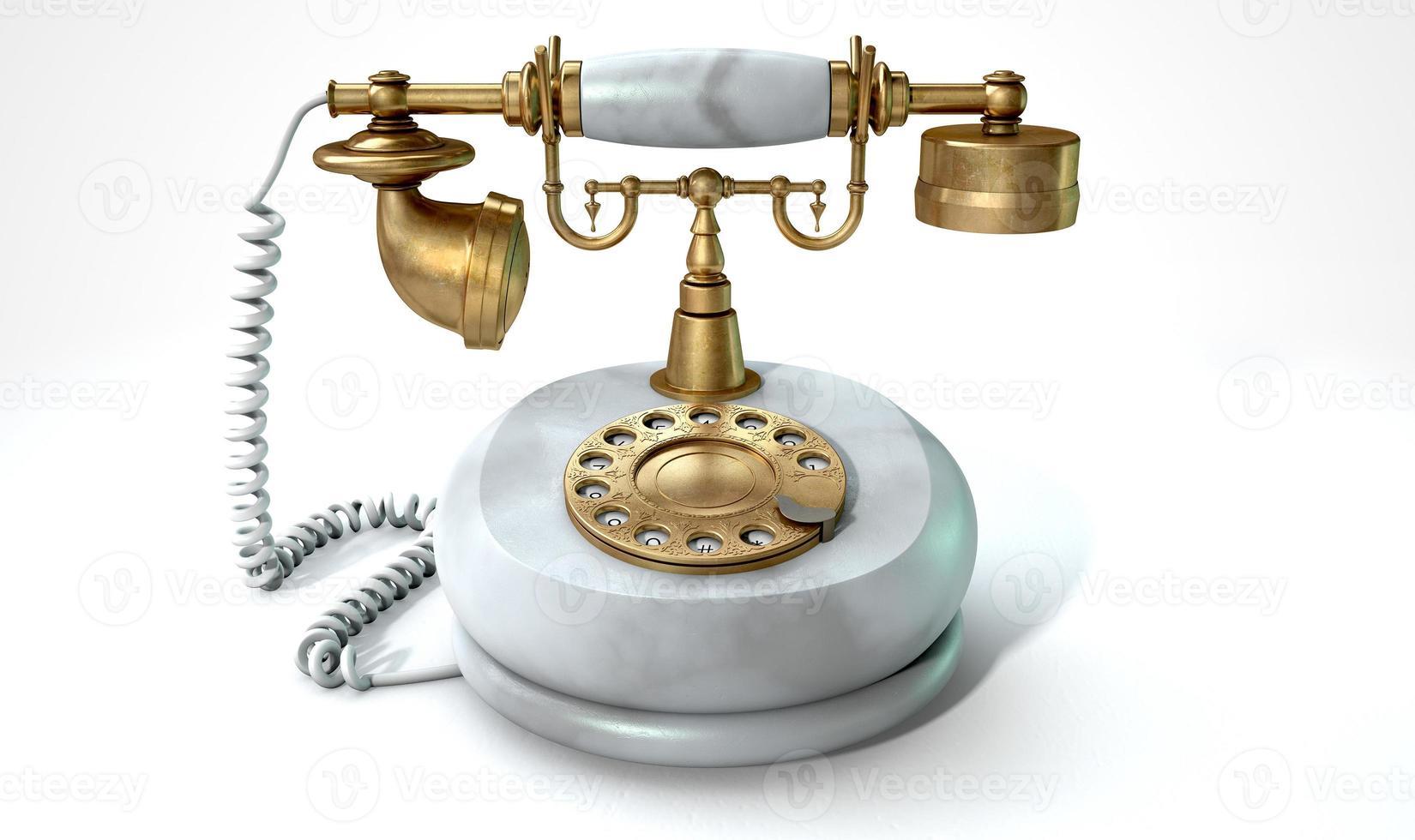 Vintage Marble Telephone photo