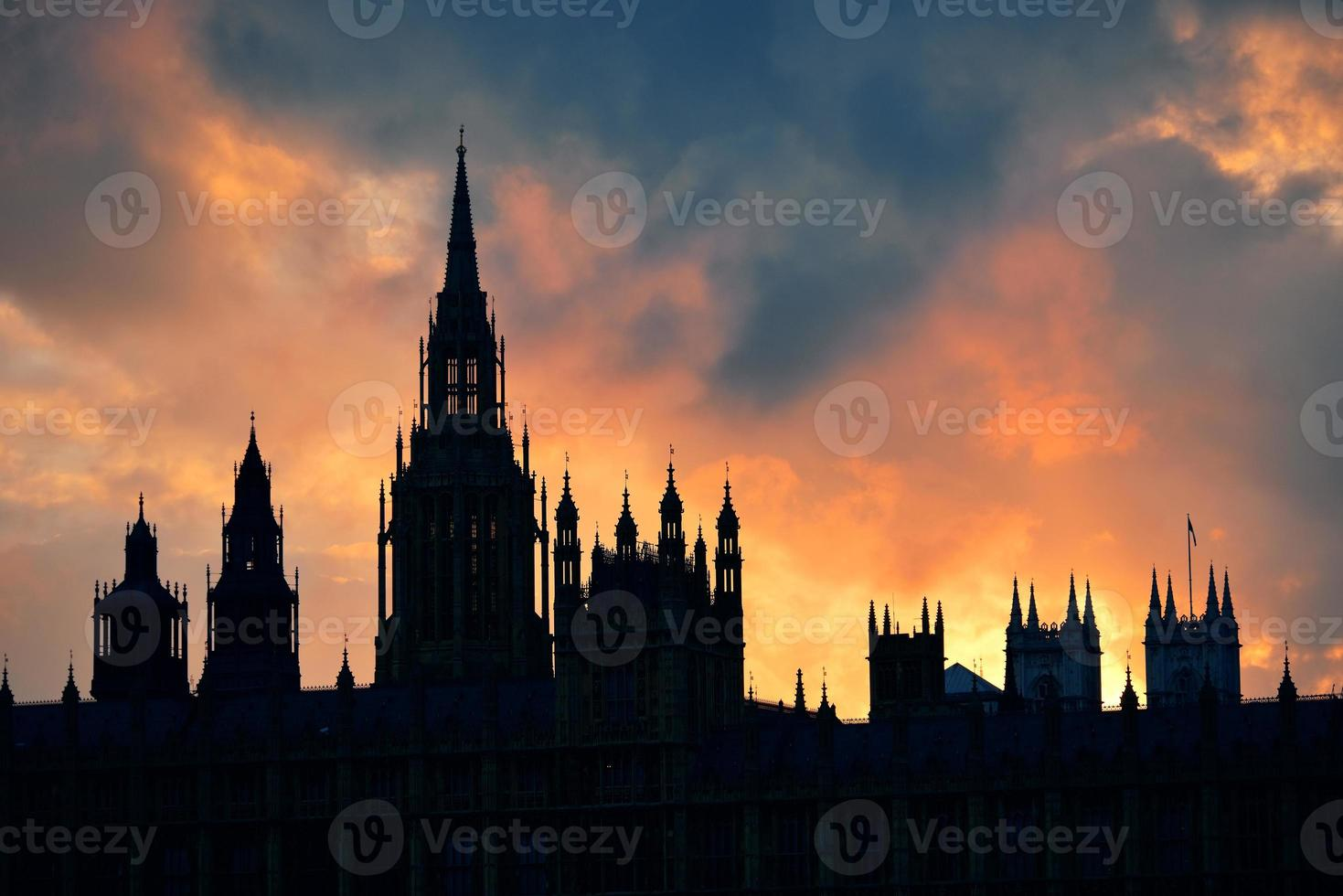 Westminster Palace silhouette photo