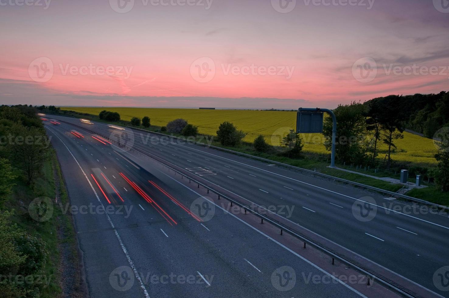 Motorway at night photo
