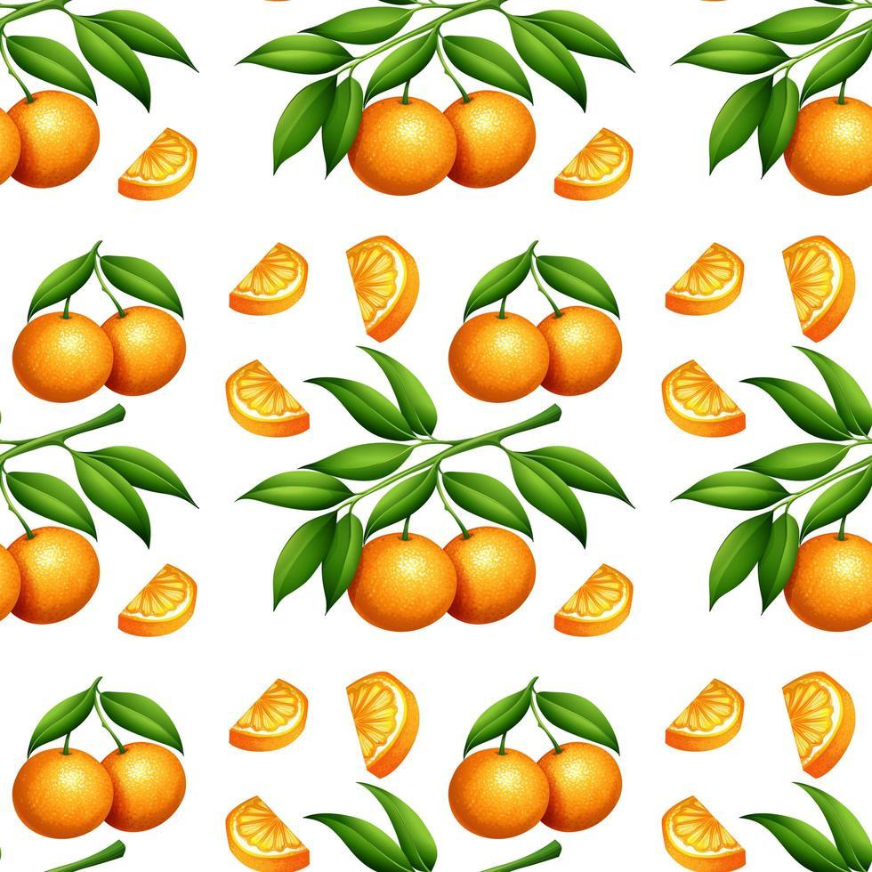 patrón naranja transparente aislado en blanco vector