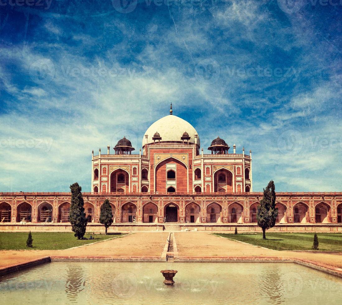la tumba de humayun Delhi, India foto