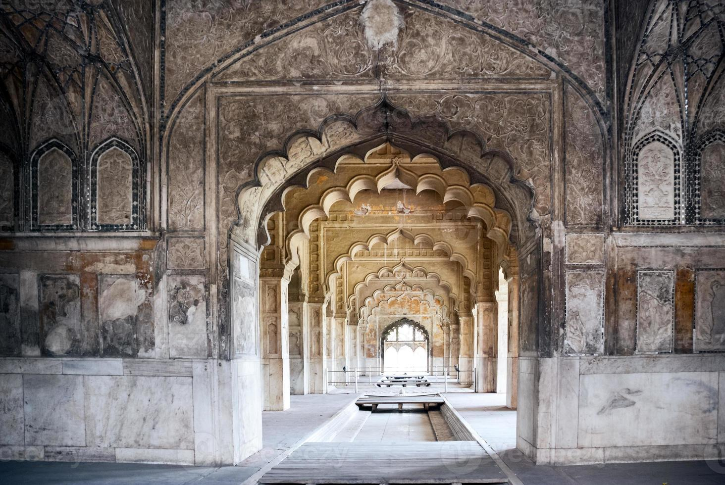 hermoso palacio indio en delhi foto