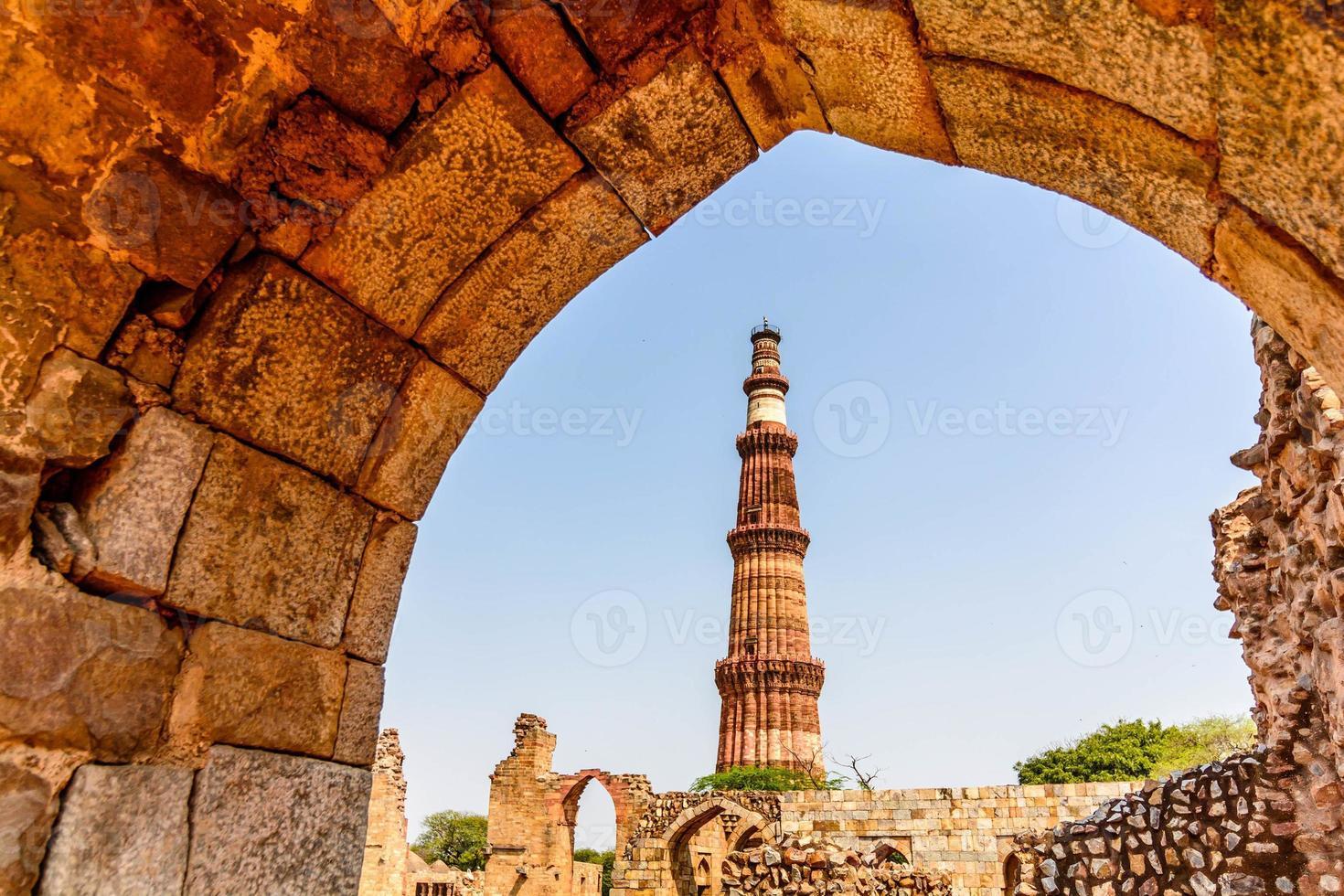 Torre Qutub Minar, Delhi, India foto