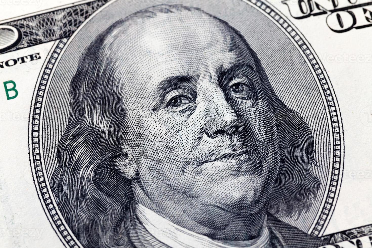Benjamin Franklin billete de 100 dólares foto