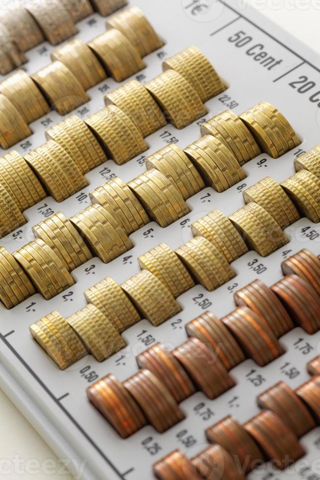monedas de la unión europea foto