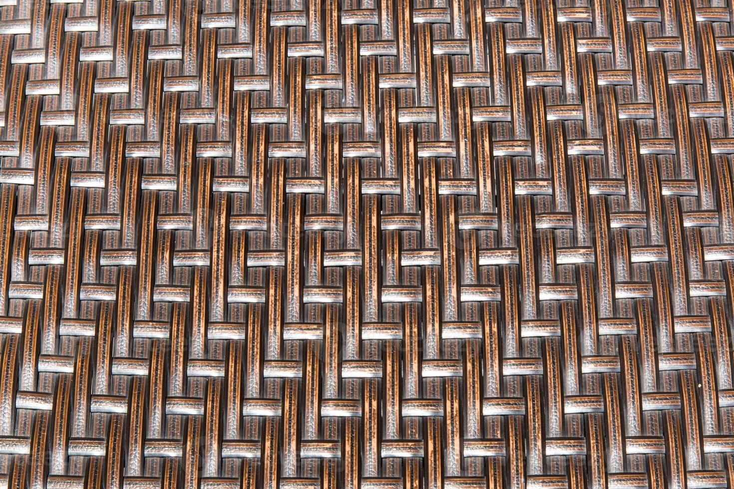 Hermosa canasta de madera de textura. foto