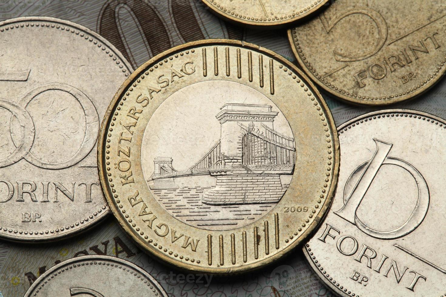 monedas de hungría foto