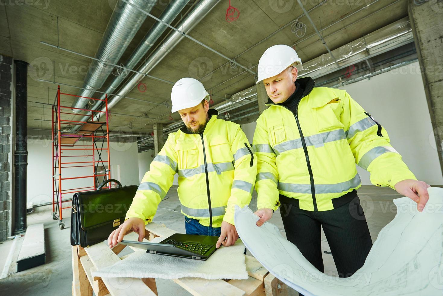 Construction builder workers photo