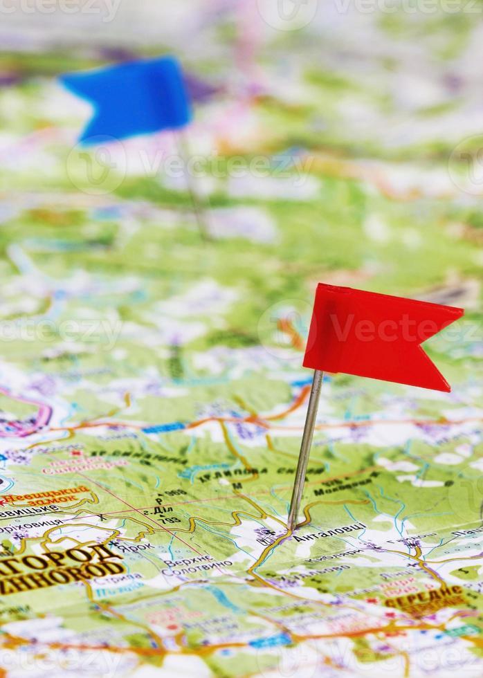 alfiler en un mapa foto