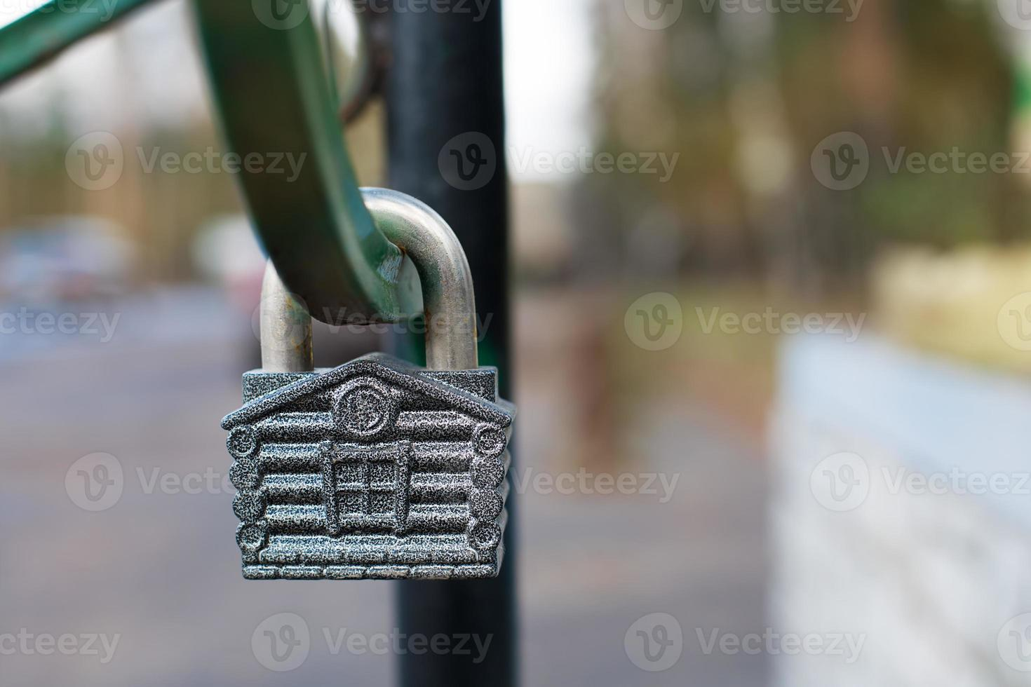 Padlock in form of house photo
