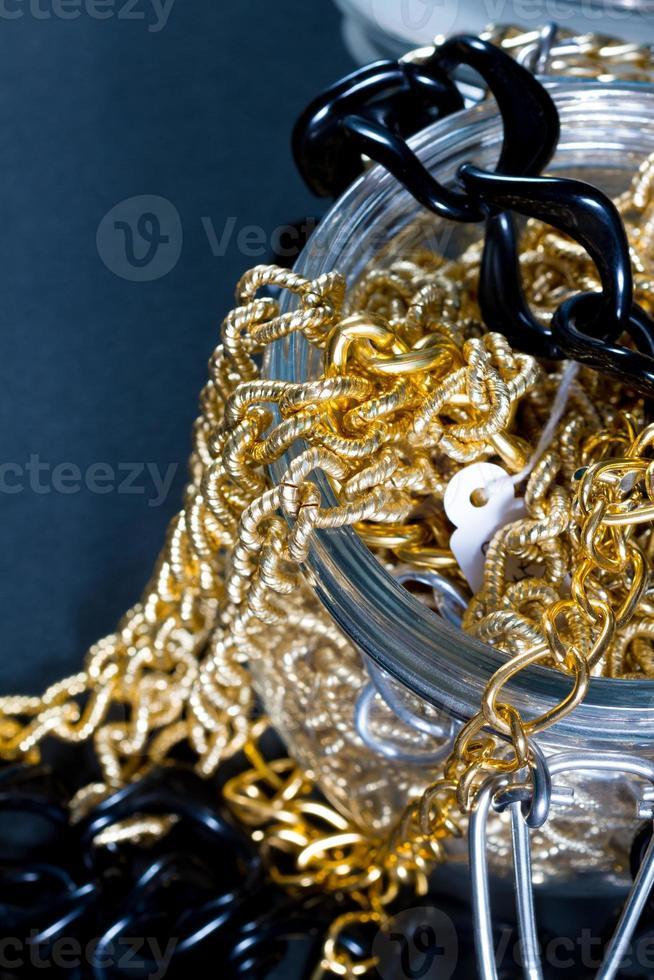 Fake jewellery and chains photo