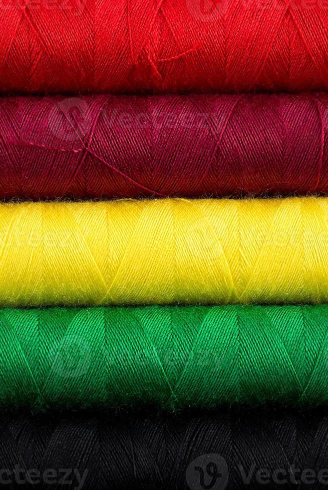 textura de hilo de coser foto