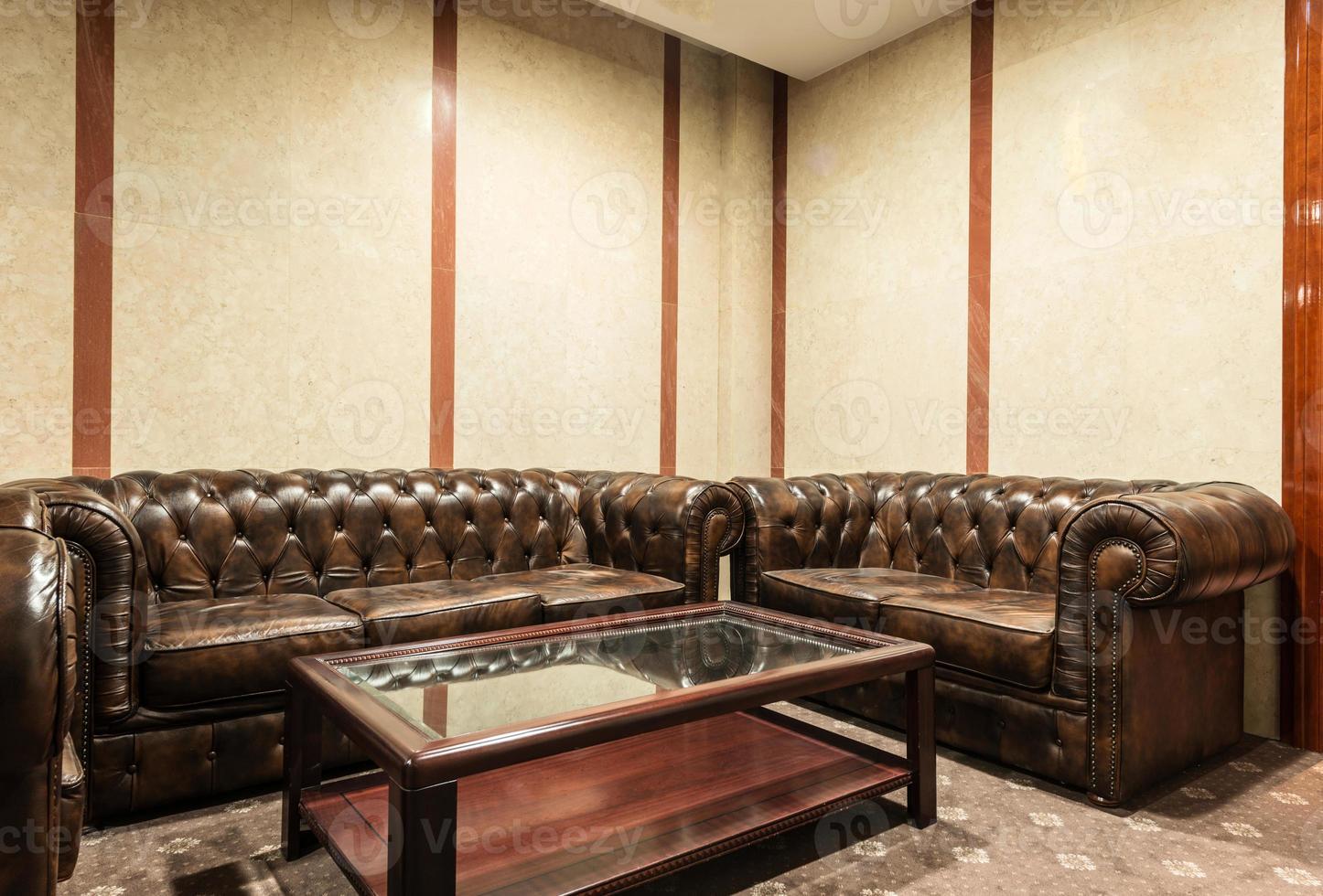 lobby de lujo en el hotel foto