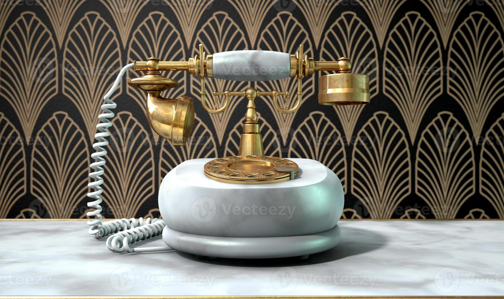 Marble Telephone And Art Deco Scene photo