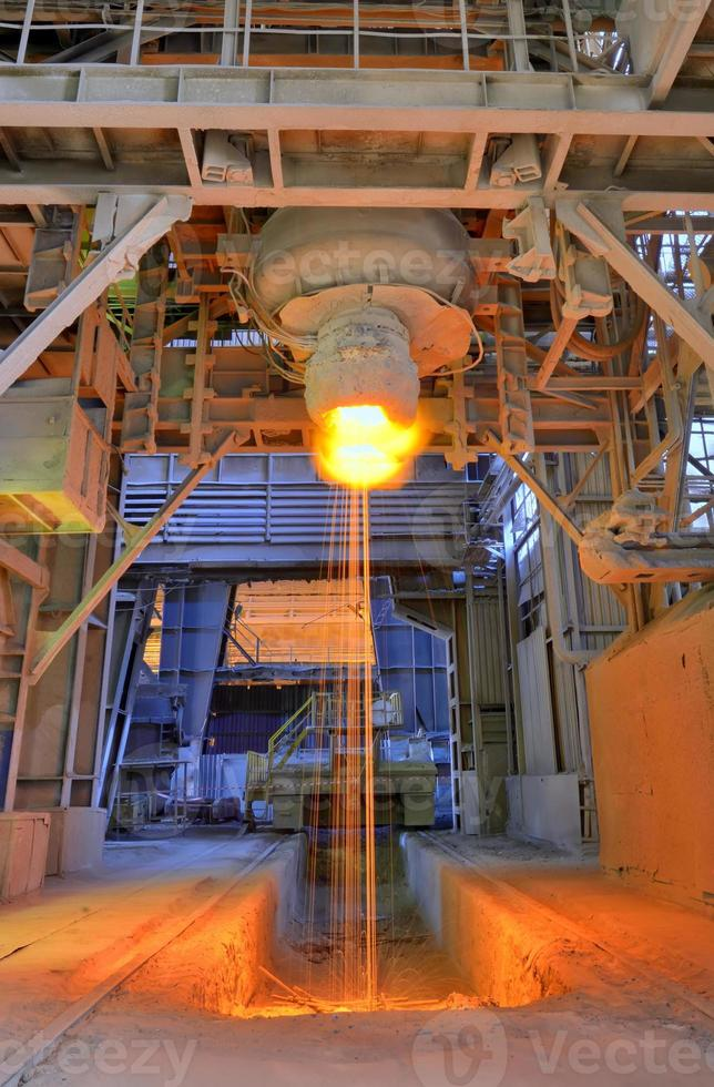 Pouring of liquid metal photo