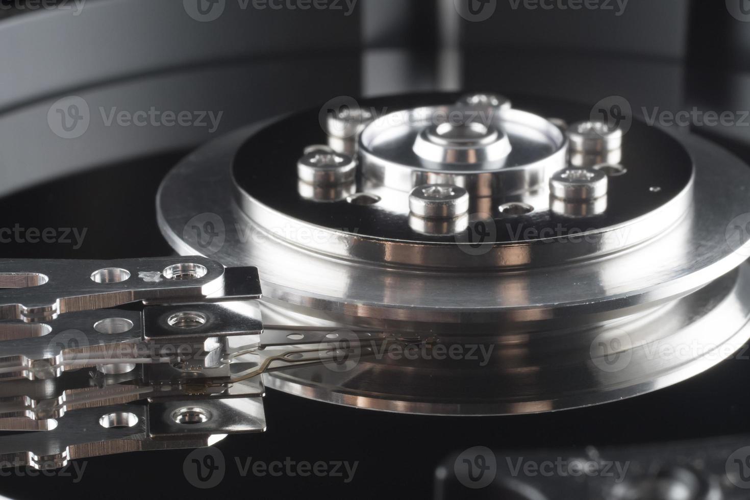 Cerrar dentro del disco duro (HDD) foto