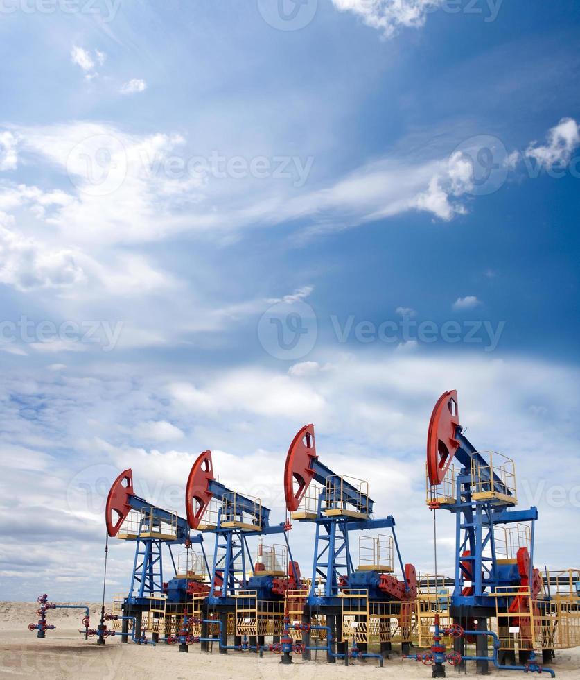 paisaje de petróleo foto