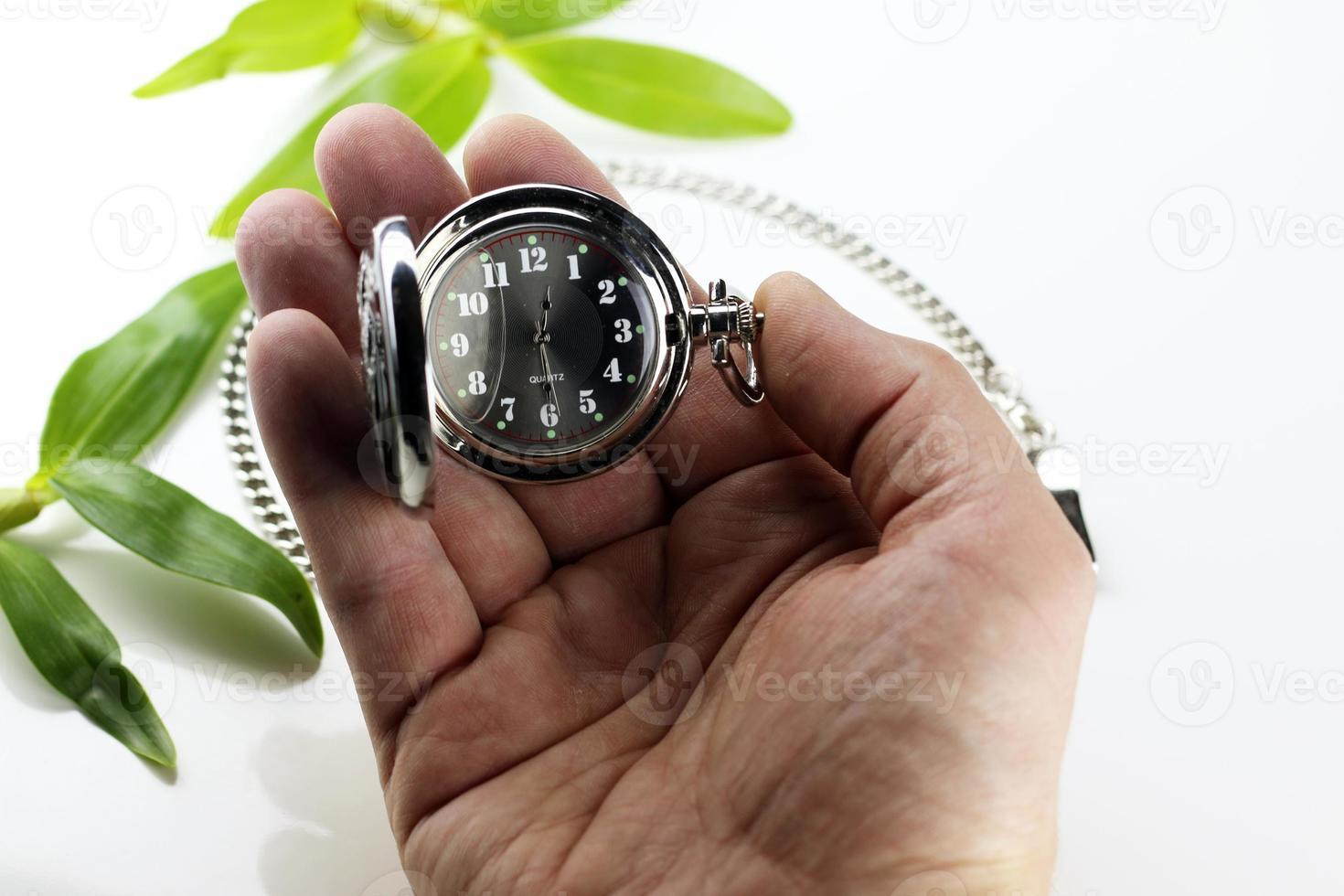 reloj de bolsillo concepto retro foto