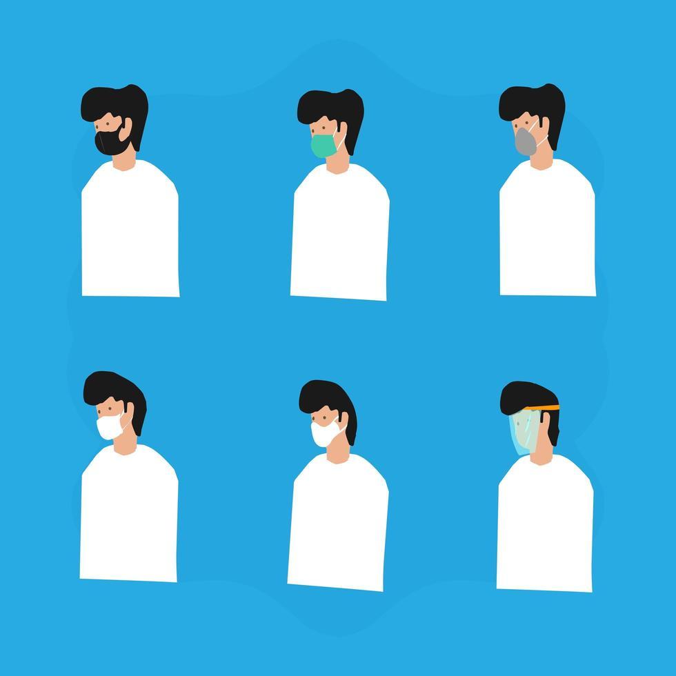 Set Of Mask Variant Illustration vector
