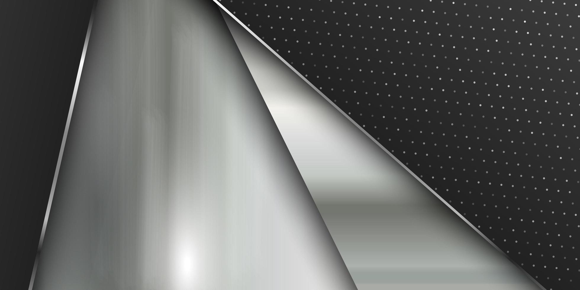 Plantilla de banner con textura de metal pulido vector