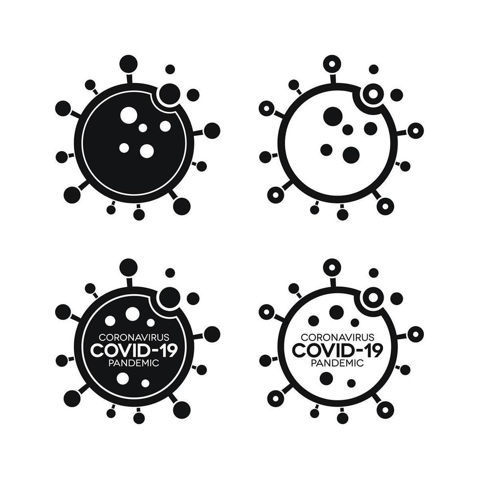 Virus Infection Icons with Covid-19 vector