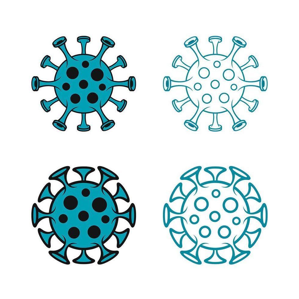 Coronavirus Covid-19 Contoured Icons vector