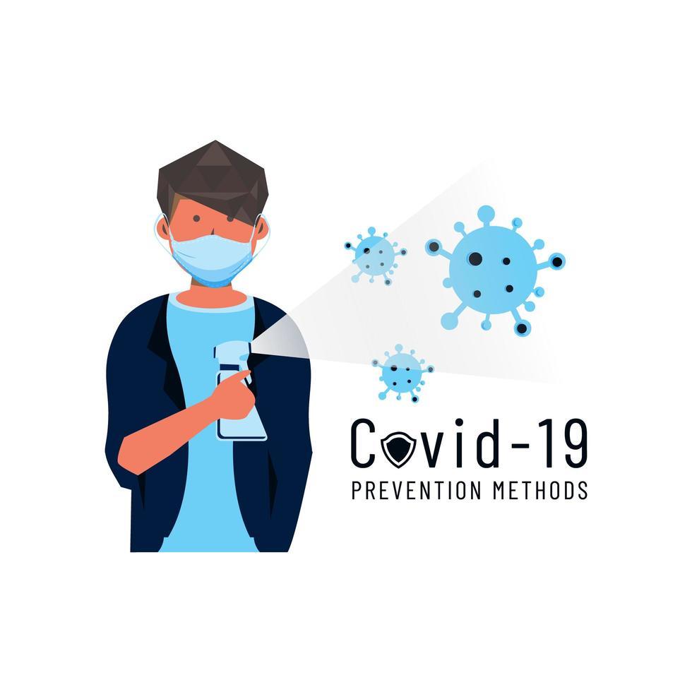 Covid 19 prevention method vector