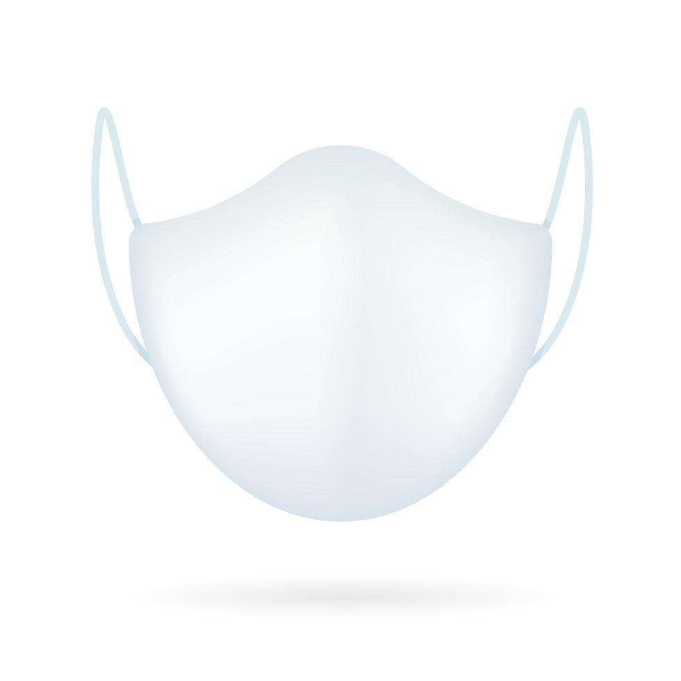 masque médical blanc modèle réaliste vecteur