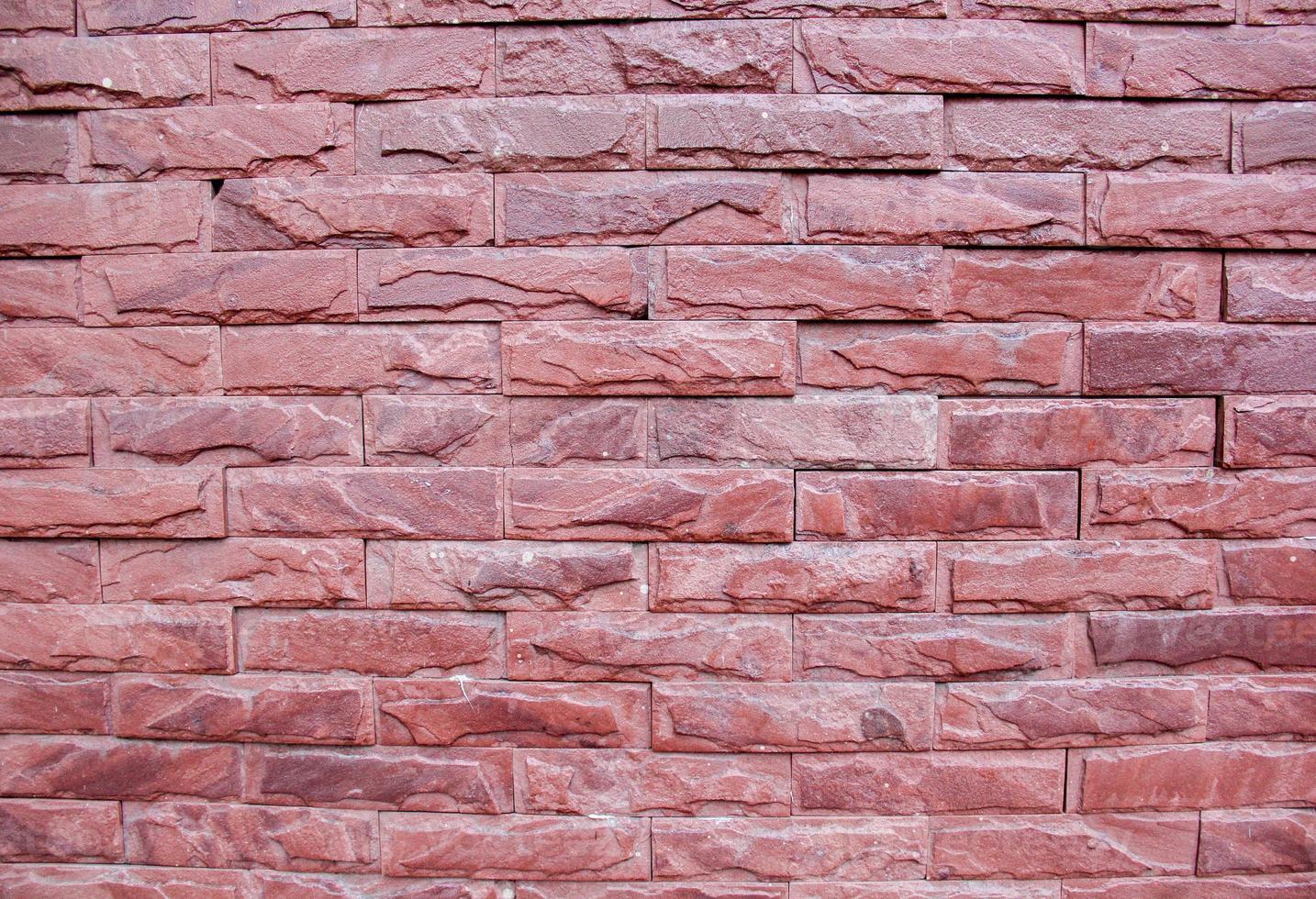Red brick's wall. photo