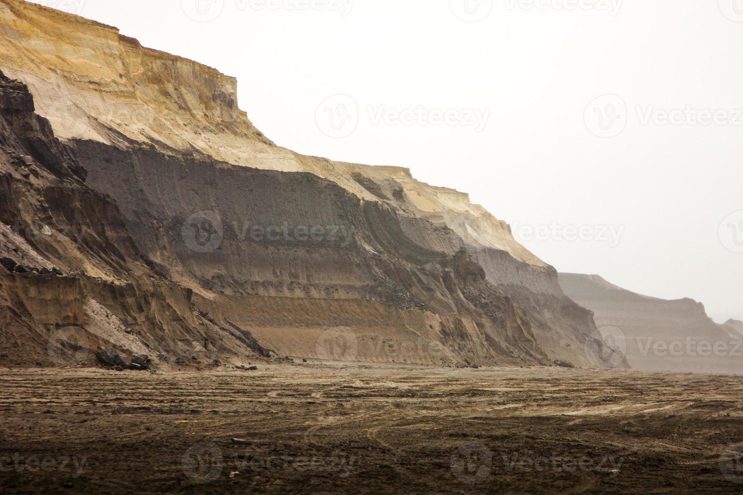 minería a cielo abierto de carbón foto