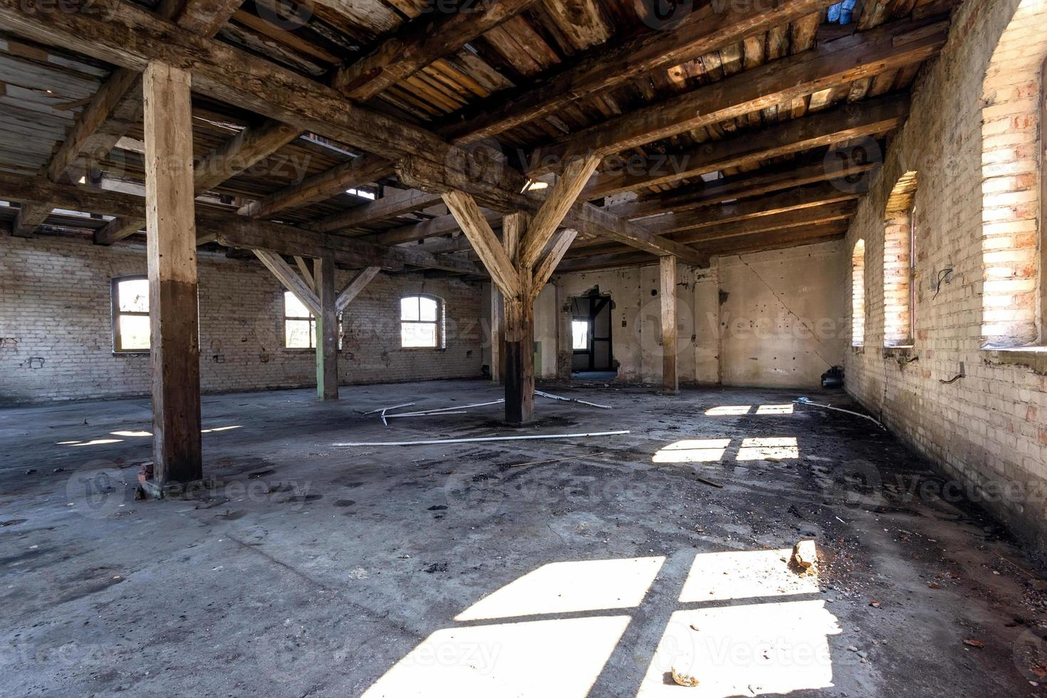 destroyed warehouse photo