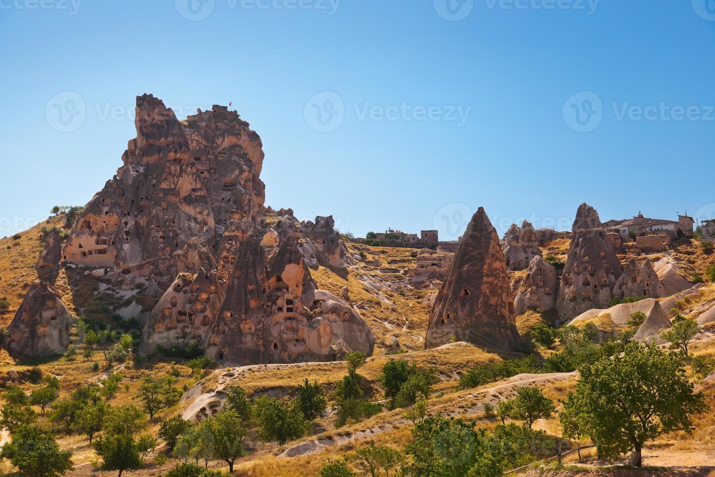 Cave city in Cappadocia Turkey photo