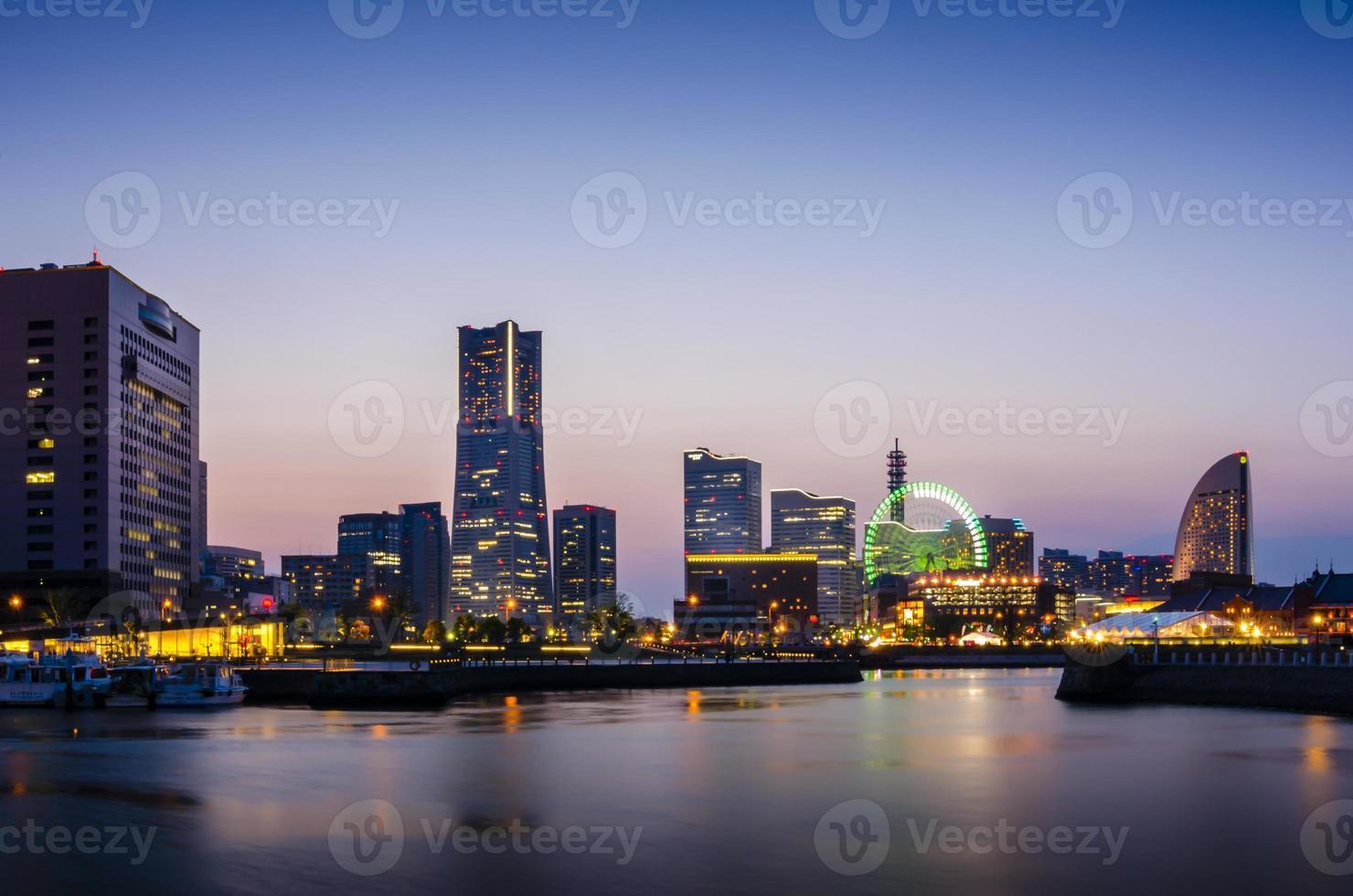 Horizontes de Yokohama en Minato Mirai 21 foto