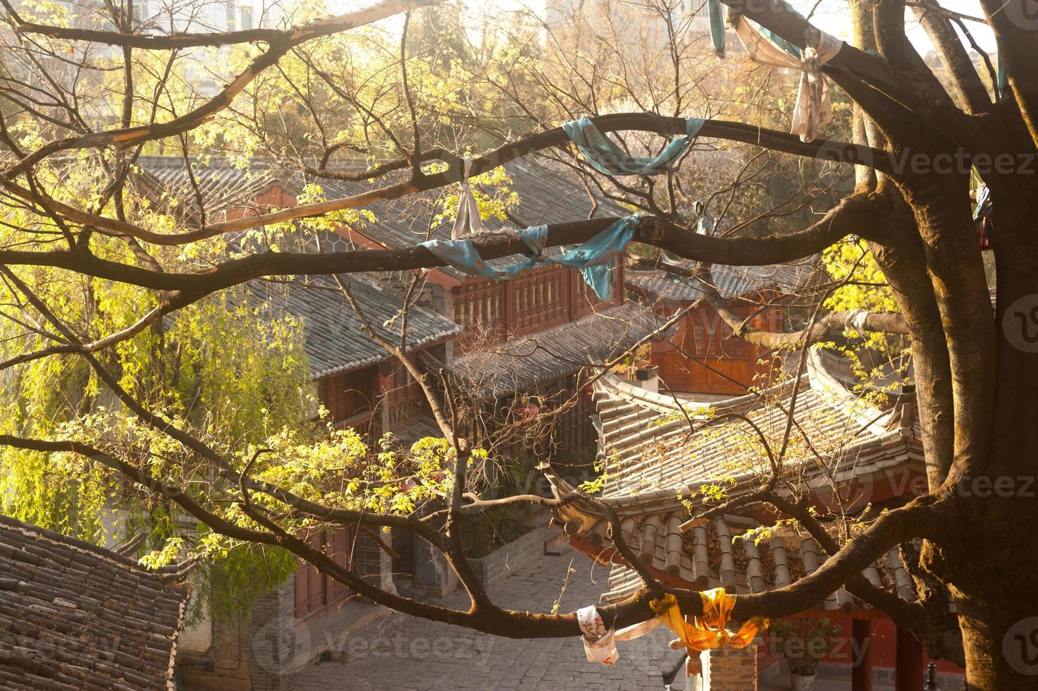 Historic town of Lijiang,UNESCO World heritage site. photo