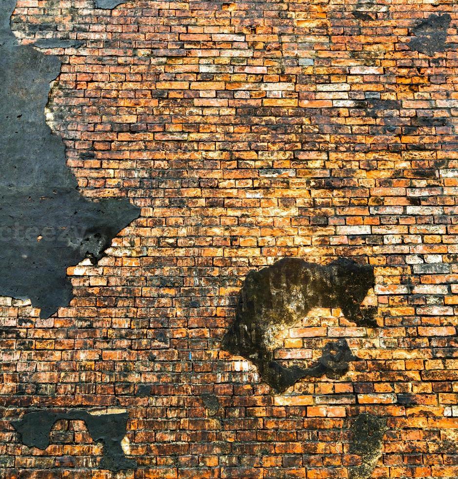 Fondo de pared de ladrillo naranja foto
