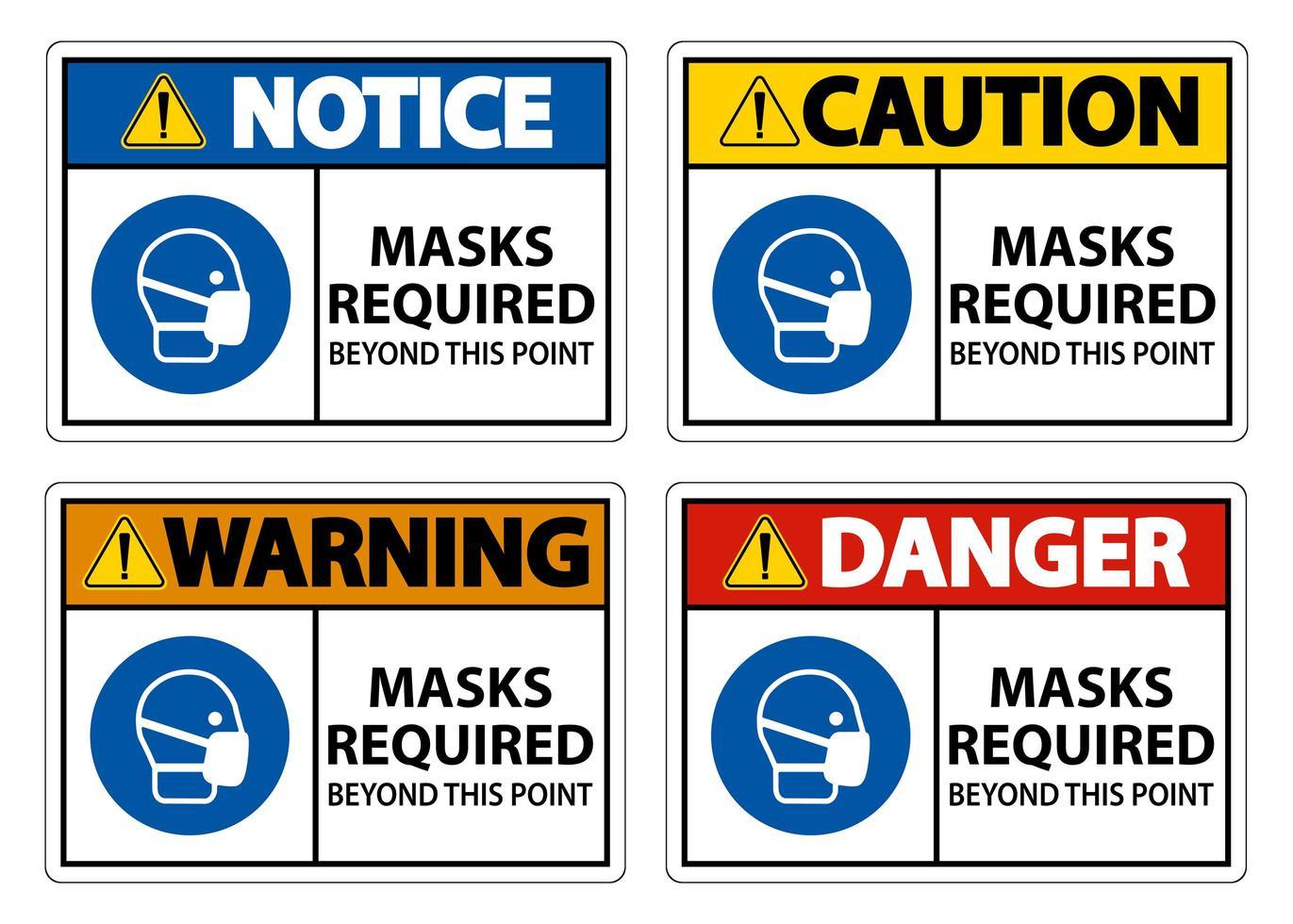 maschere richieste oltre questo punto segni vettore