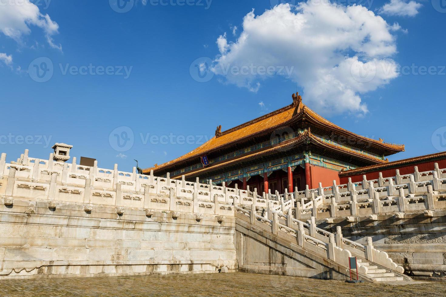 Los palacios reales de la ciudad prohibida en Beijing, China foto
