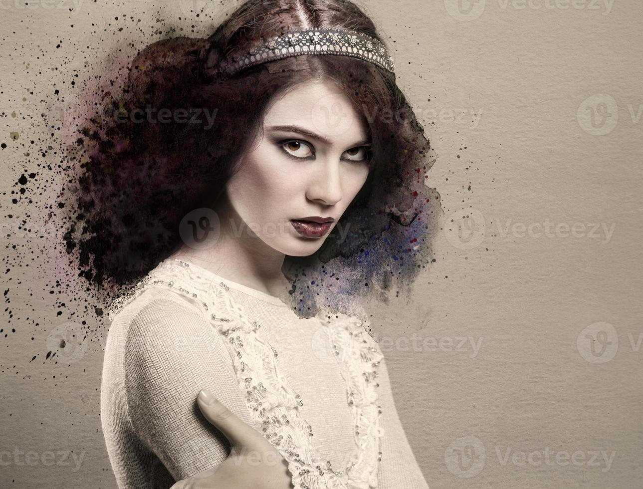 hermosa jovencita foto