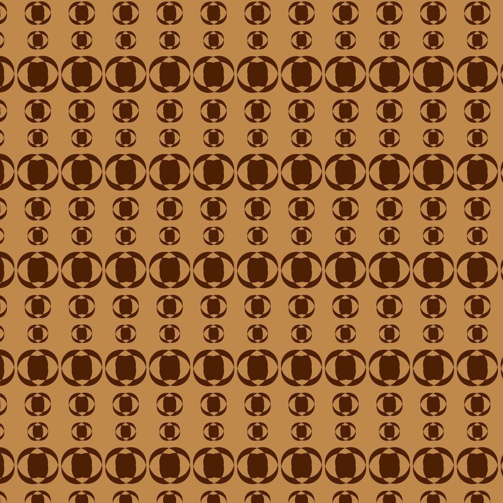 modello a forma di cerchio marrone e marrone scuro vettore