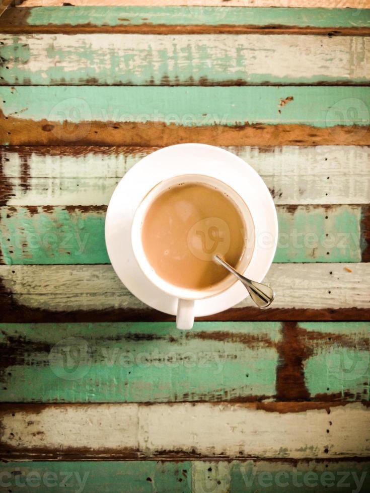Hot latte coffee photo