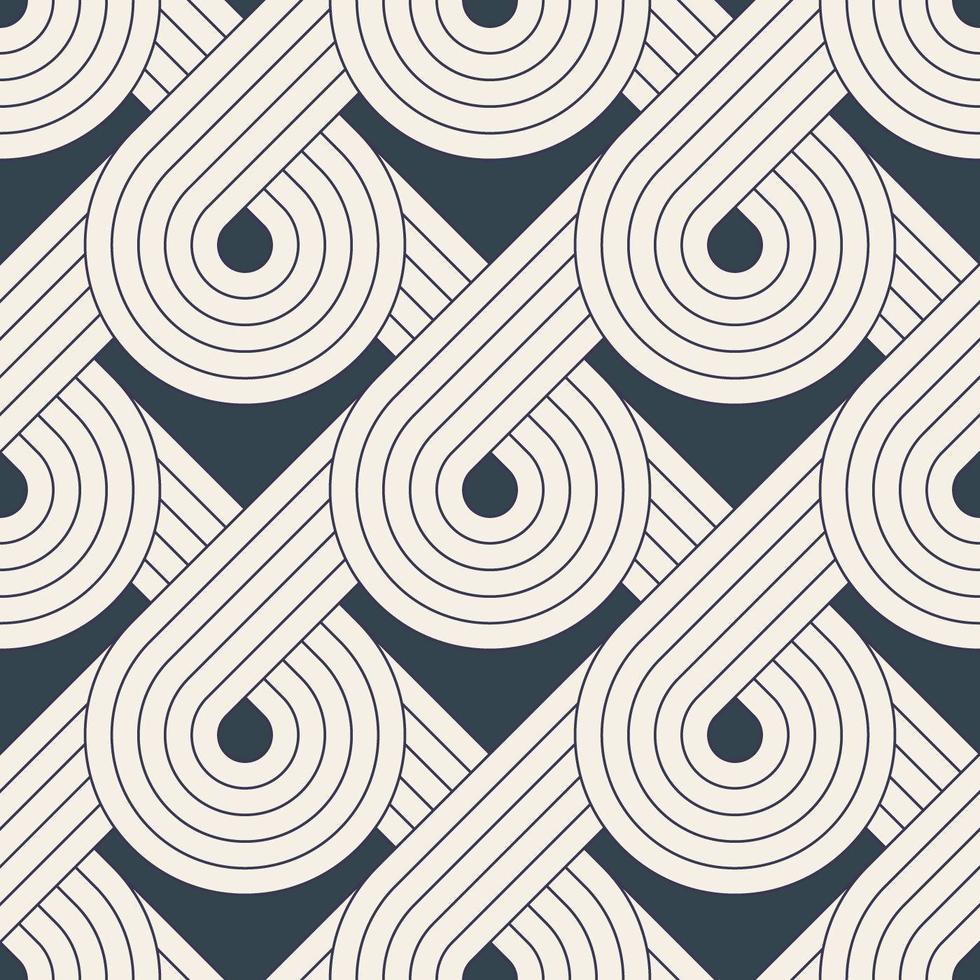 modello senza cuciture con linee geometriche simmetriche vettore