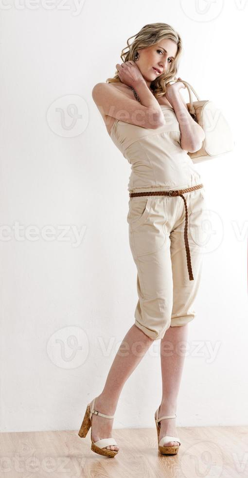 woman wearing summer clothes photo