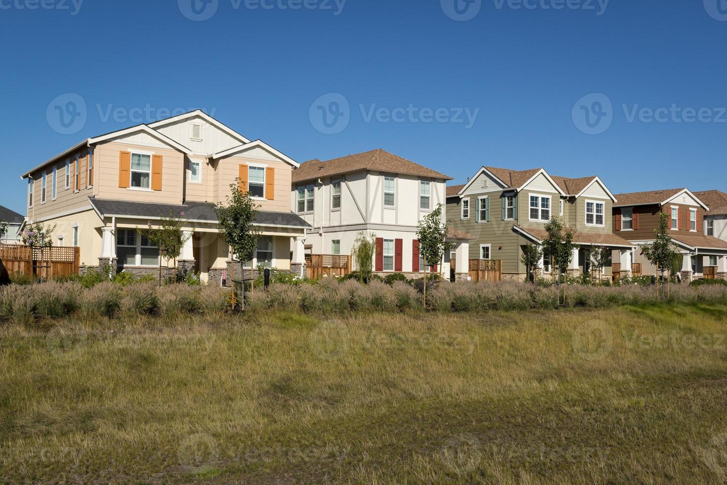 hilera de casas coloridas foto