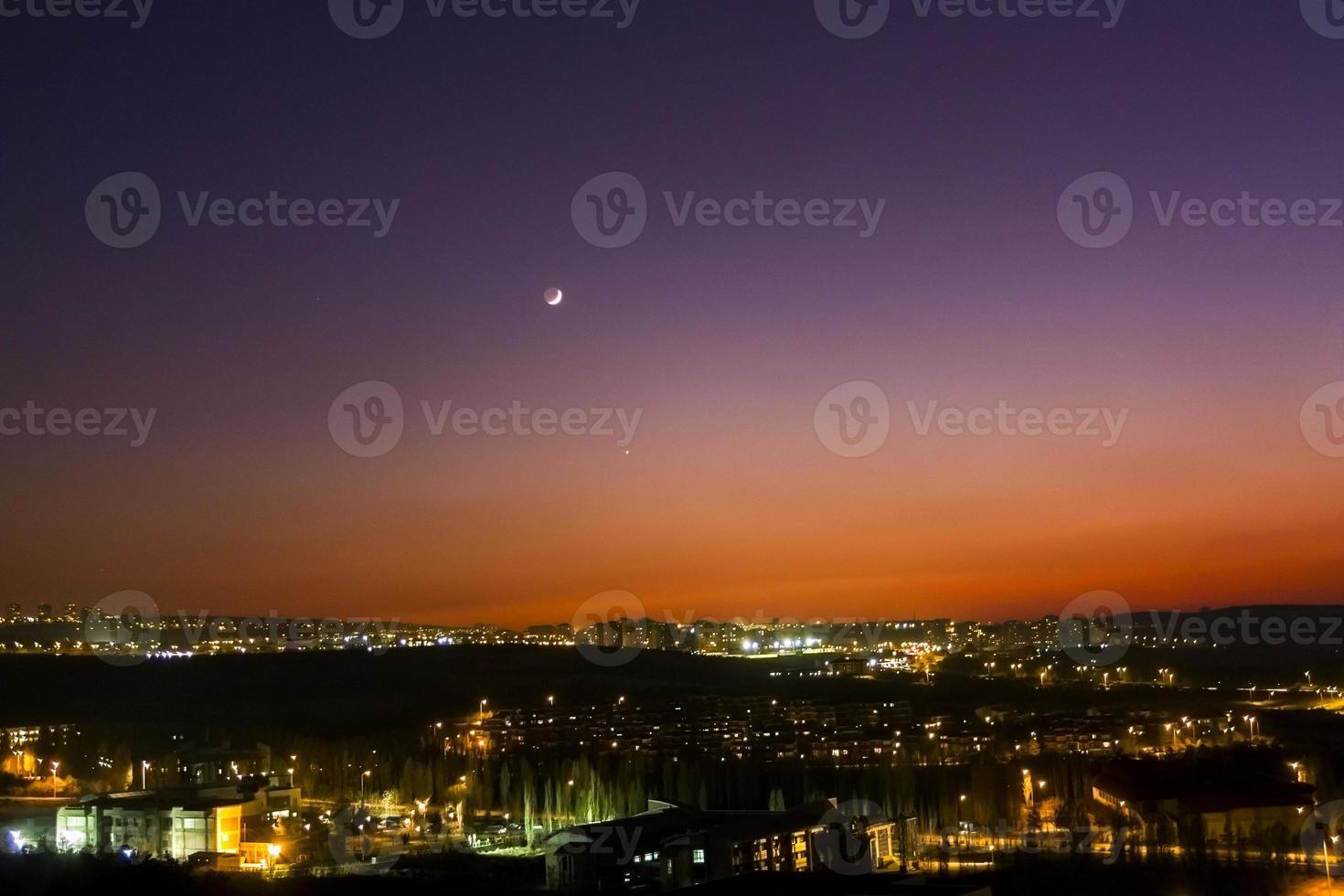 Venus and Crescent photo