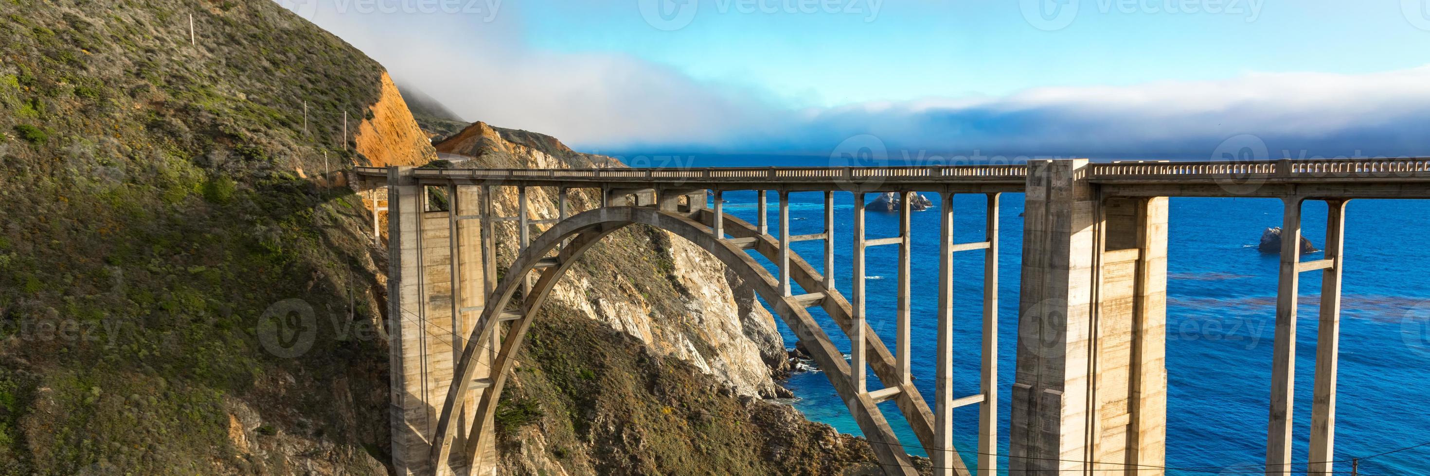 Bixby Bridge panorama photo