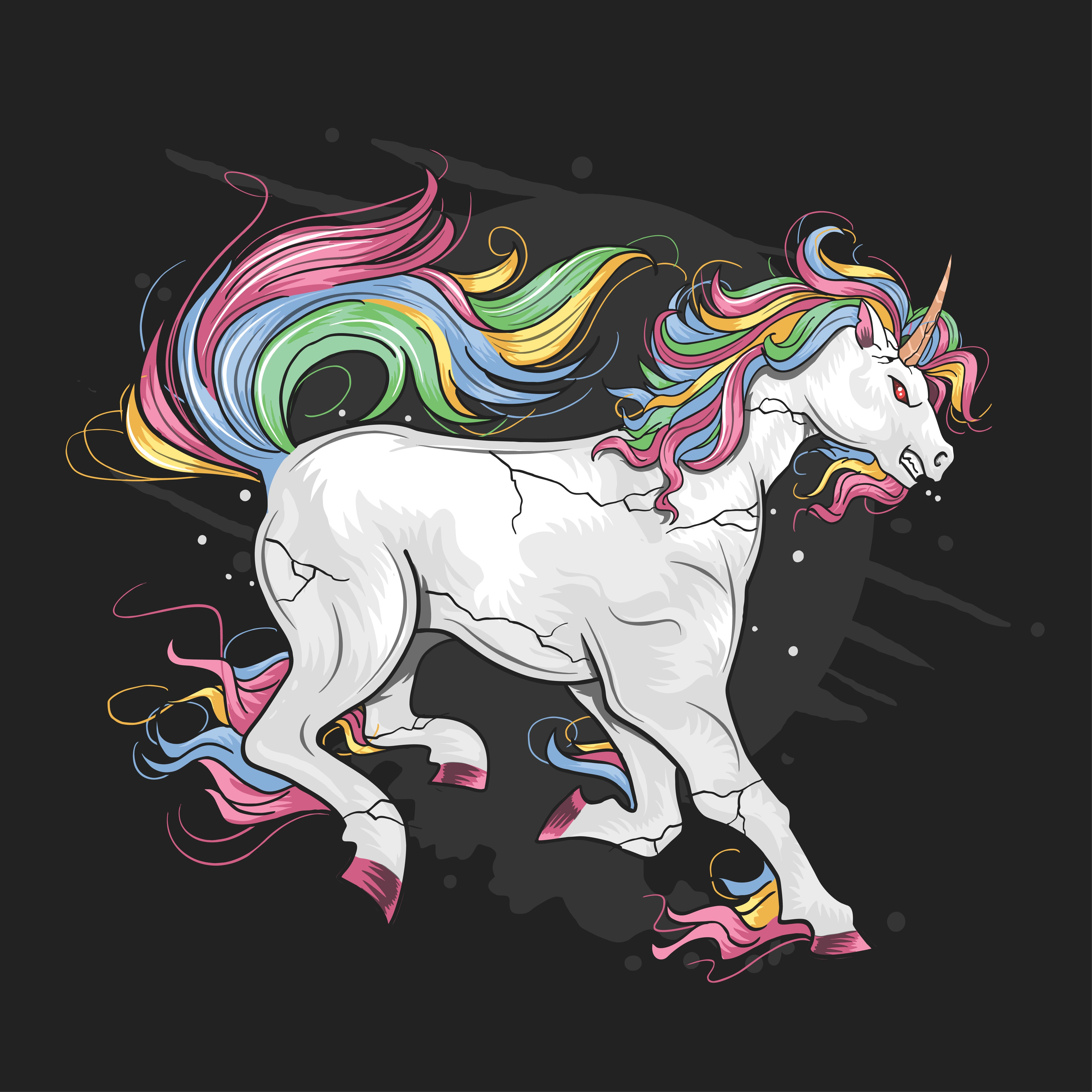 mad rainbow unicorn 1133972  download free vectors