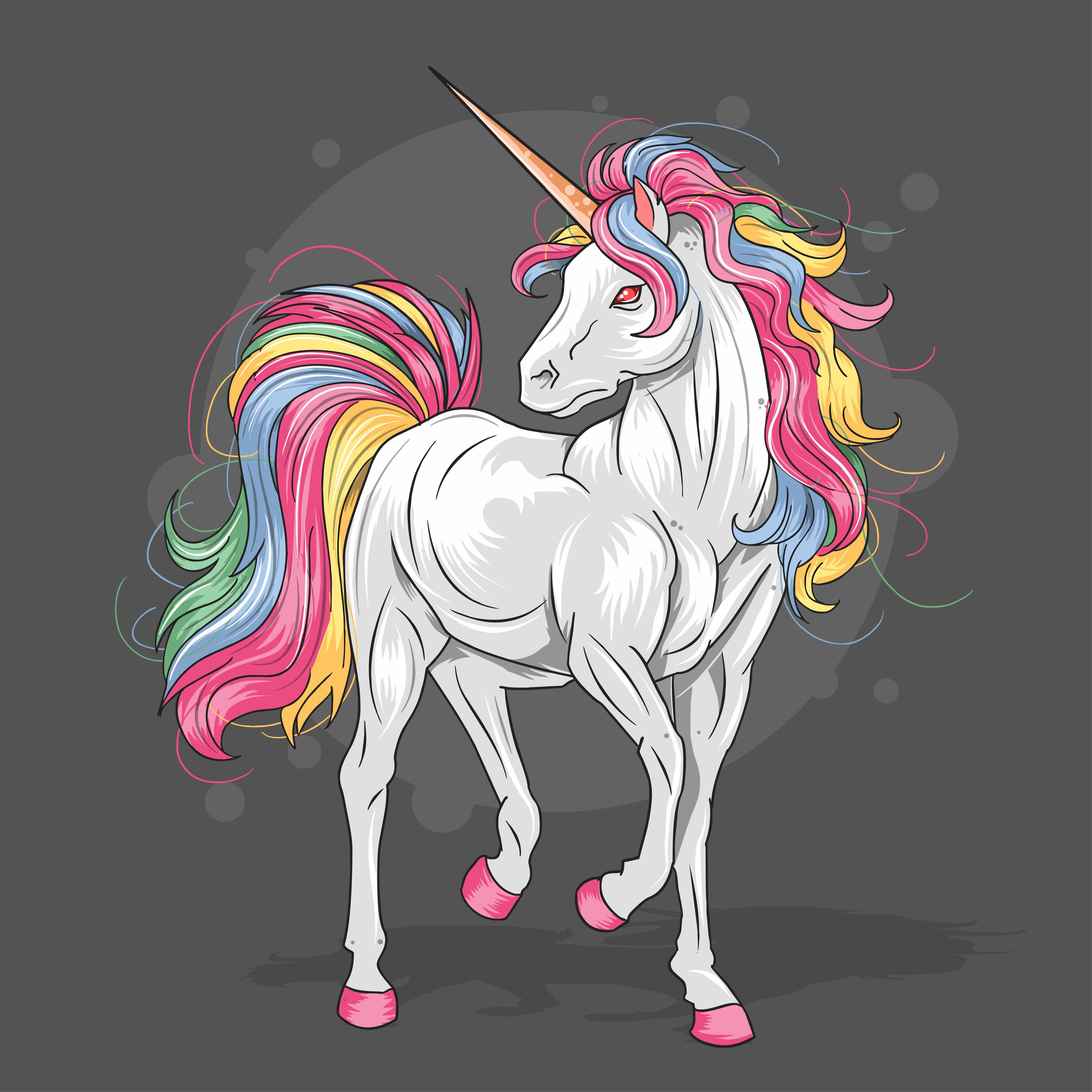 unicorn majestic color  download free vectors clipart