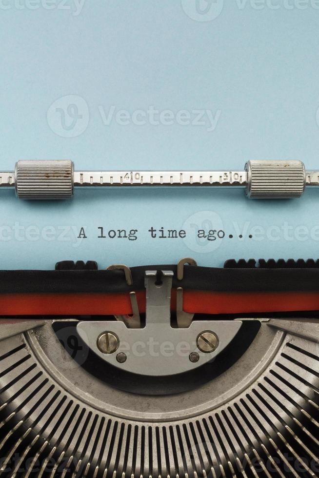 máquina de escribir vintage foto